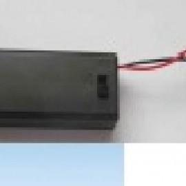 Отсеки к батарейкам 4АА  закрытый,70x65x20 с проводом 15см