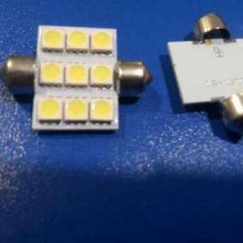 Светодиодная автолампа S-36MM-9x5050 Белый