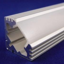 Алюминиевый профиль накладной полуматовый 2М