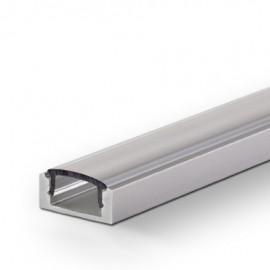 Алюминиевый профиль накладной полуматовый 1М